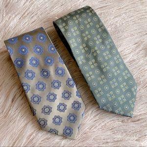 Men formal 100% silk necktie 2 pcs bundle